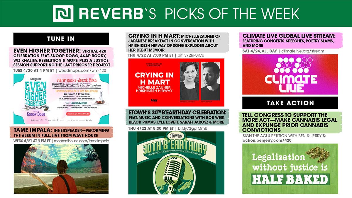 REVERB's Picks of the Week